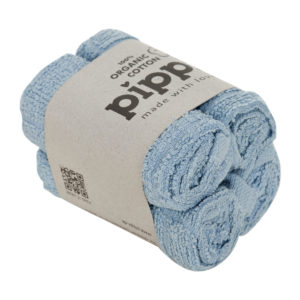 Krpice za umivanje iz organskega bombaža (4 KOSI) – modre