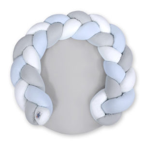 Igralna podloga kitka 3v1 – bela, svetlo siva, baby modra