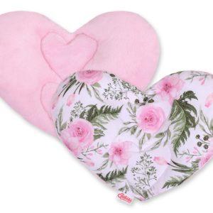 Vzglavnik srček – cvetlice